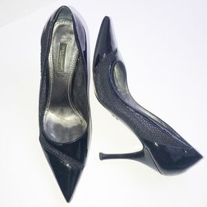 DOLCE & GABBANA PUMPS POINTED TOE BLACK PATENT